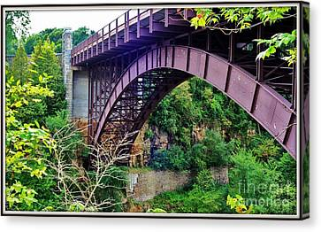 Historic Ausable Chasm Bridge Canvas Print by Patti Whitten