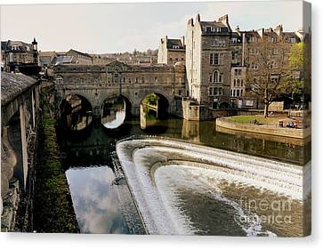 Historic Bath Canvas Print by Paul Cowan