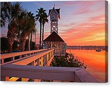 Historic Bridge Street Pier Sunrise Canvas Print