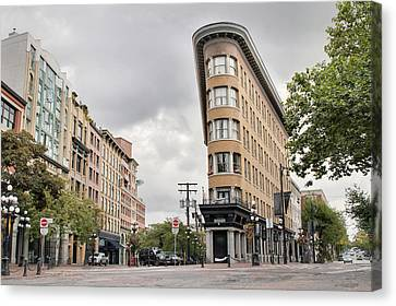 Historic Buildings In Gastown Vancouver Bc Canvas Print by David Gn