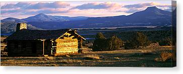 Historic Cabin At Ghost Ranch, Abiquiu Canvas Print by Panoramic Images