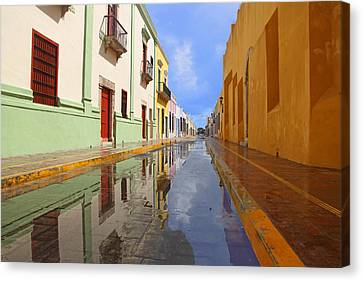 Canvas Print featuring the photograph Historic Campeche Mexico  by Susan Rovira
