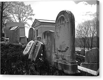 Historic Cemetery Canvas Print by Jennifer Ancker
