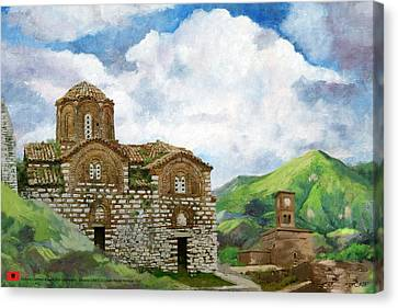 Historic Centers Of Berat And Gjirokastra Canvas Print by Catf