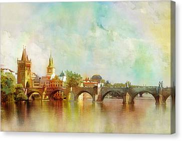 Historic Centre Of Prague  Canvas Print by Catf