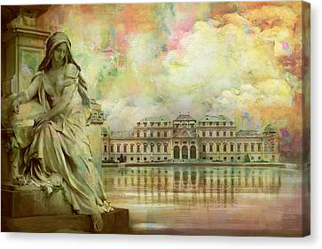 Historic Centre Of Vienna Canvas Print by Catf