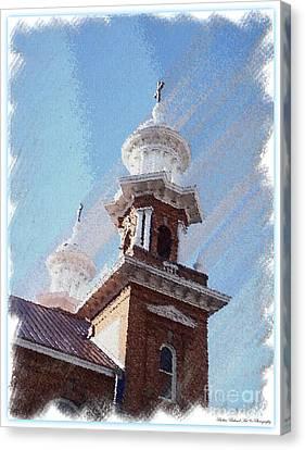 Historic Church Steeples Canvas Print