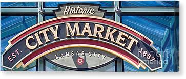 Historic City Market Sign  Canvas Print