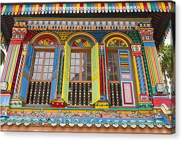 Historic Colorful Peranakan House Canvas Print by David Gn