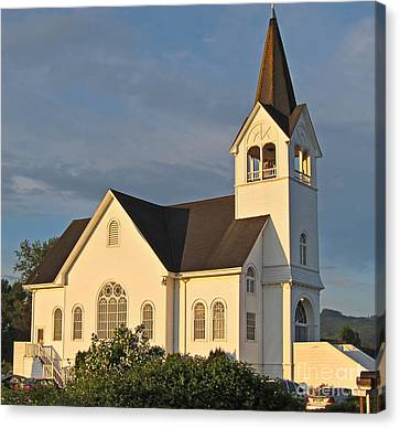 Historic Country Church Art Prints Canvas Print by Valerie Garner