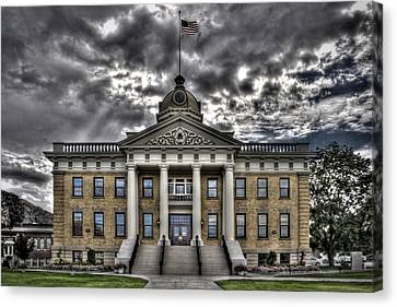 Historic Courthouse Canvas Print by Jim Speth
