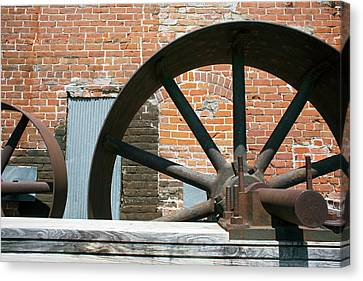 Historic Flour Mill Machinery Canvas Print