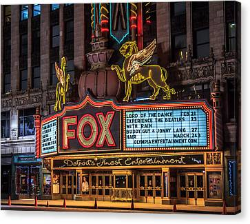 Historic Fox Theatre In Detroit Michigan Canvas Print