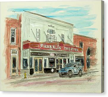 Historic Franklin Theatre Canvas Print by Tim Ross