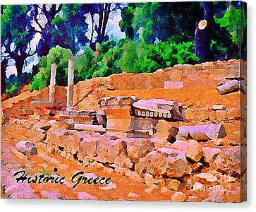 Historic Greece Canvas Print by John Malone