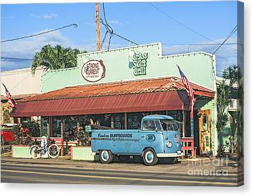 Historic Haleiwa Surf Town On The North Shore Of Oahu Canvas Print by Aloha Art