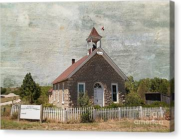 Historic Hinerville School  House  Canvas Print by Liane Wright