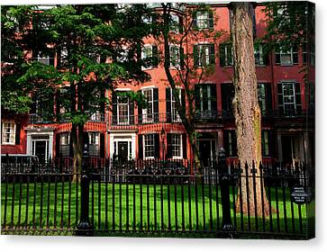 Historic Homes Of Beacon Hill, Boston Canvas Print