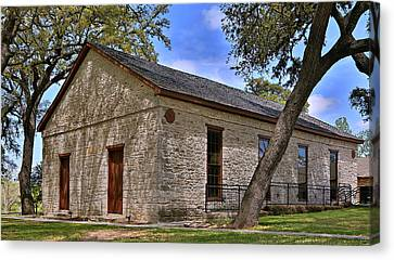 Historic Independence Baptist Church -- Texas Canvas Print by Stephen Stookey