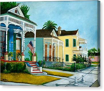 Historic House Canvas Print - Historic Louisiana Homes by Elaine Hodges