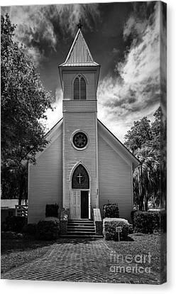 Historic Mcintosh Methodist Church Canvas Print by Lynn Palmer