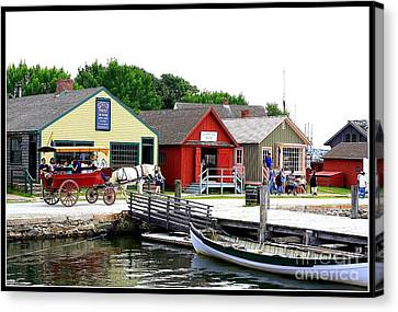Historic Mystic Seaport Canvas Print by Dora Sofia Caputo Photographic Art and Design