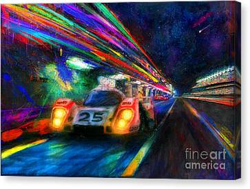 Vics Night Out Canvas Print by Alan Greene