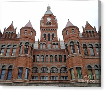 Canvas Print featuring the photograph Historic Old Red Courthouse Dallas #1 by Robert ONeil