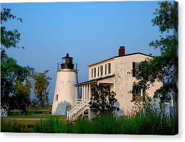 Historic Piney Point Lighthouse Canvas Print by Bill Cannon