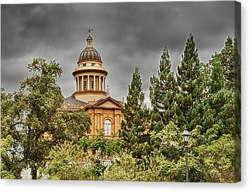 Canvas Print featuring the photograph Historic Placer County Courthouse by Jim Thompson