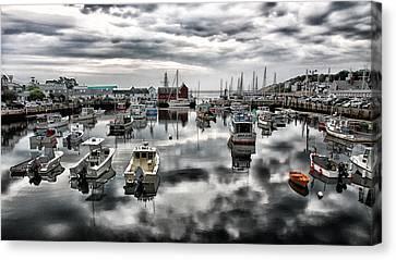 Fishing Shack Canvas Print - Historic Rockport Harbor by Stephen Stookey