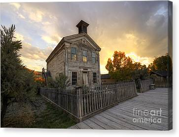 Historic School Bannack Montana 4 Canvas Print by Bob Christopher