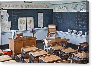 Historic School Classroom Art Prints Canvas Print by Valerie Garner