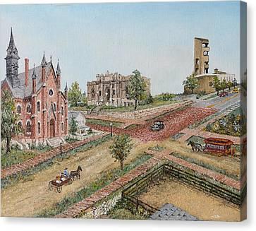 Historic Street - Lawrence Kansas Canvas Print