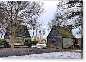 Historic Waterfront Canvas Print by Janice Drew