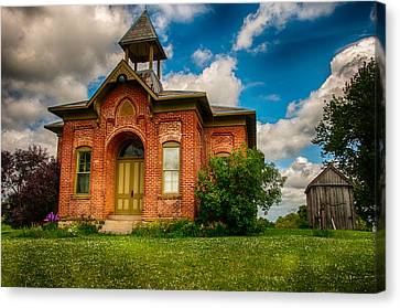 Historic Whitley Co School House Canvas Print