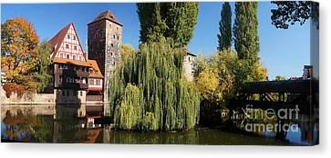 historic winestorage and executioner bridge in Nuremberg Canvas Print by Rudi Prott