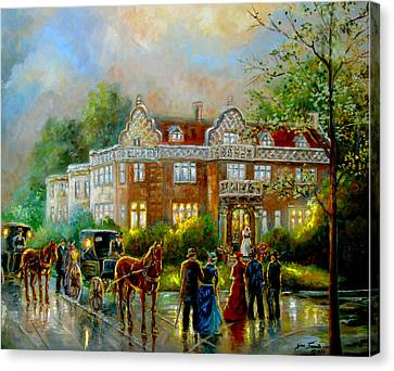 Historical Architecture Indiana Baker House Mansion  Canvas Print by Regina Femrite