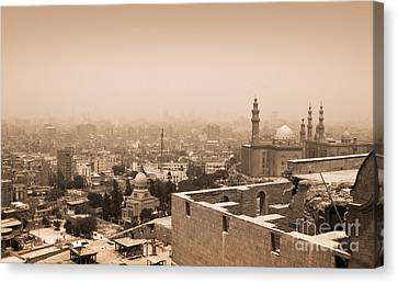 Canvas Print featuring the photograph Historical Buildings Of Cairo by Mohamed Elkhamisy