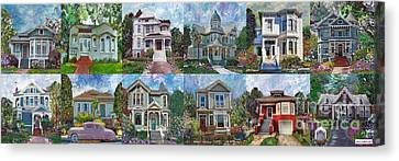 Historical Homes Canvas Print by Linda Weinstock