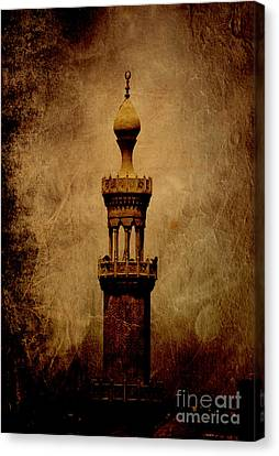 Canvas Print featuring the photograph Historical Minaret In Cairo by Mohamed Elkhamisy