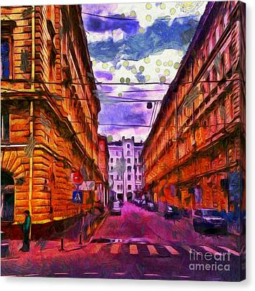 Historical Moscow Centre Canvas Print