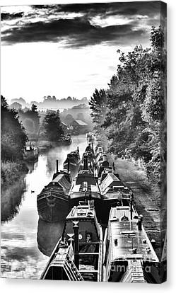 Historical Narrowboats Canvas Print by Tim Gainey