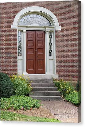 Historical Red Door Canvas Print by Aimee Mouw