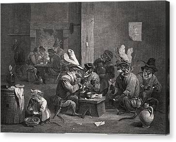 Historical Satire, Historical Artwork Canvas Print by Science Photo Library