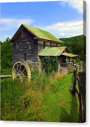 Historical Whites Mill Canvas Print by Karen Wiles