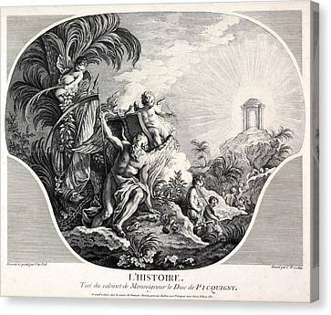 History Allegory, 18th-century Artwork Canvas Print