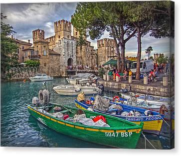 History At Lake Garda Canvas Print