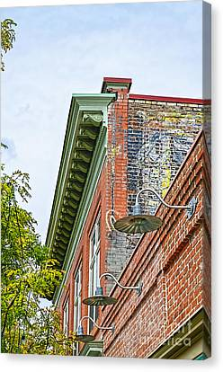 History In Brick Canvas Print by Keith Ducker