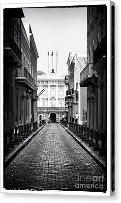 Puerto Rico Canvas Print - History In San Juan by John Rizzuto